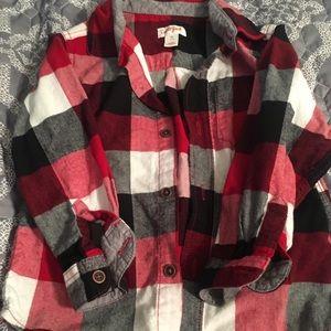 Size 4T lumberjack flannel!